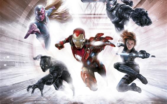 Wallpaper Captain America: Civil War, superheroes, art picture