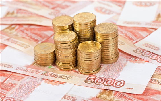 Wallpaper Cash, currency, coins, rubles