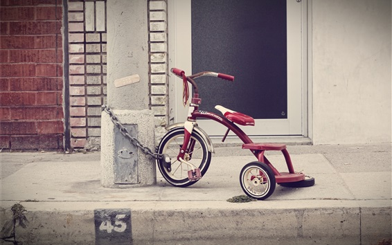 Wallpaper Children toy, tricycle