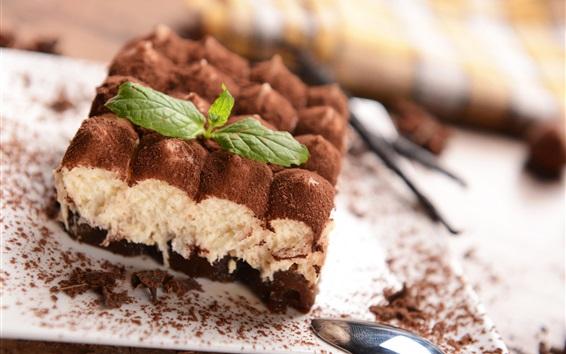 Wallpaper Chocolate cake, dessert, tiramisu