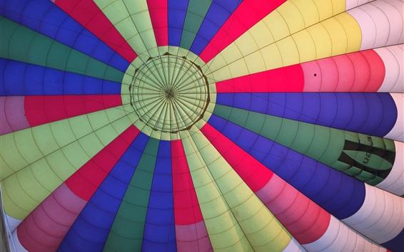 Wallpaper Colorful hot air balloon flight
