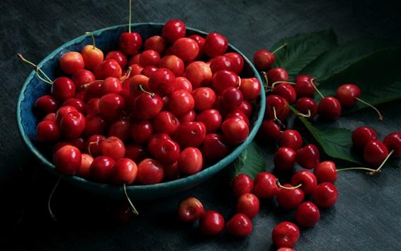 Fond d'écran Fruits frais, cerises rouges