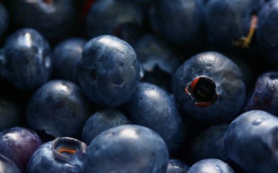 Wallpaper Fruit close-up, blueberries macro photography