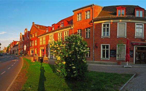 Wallpaper Germany, Potsdam, street, city, buildings