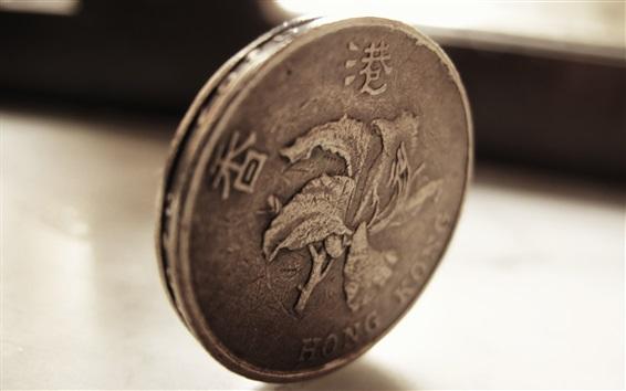 배경 화면 홍콩 달러, 동전