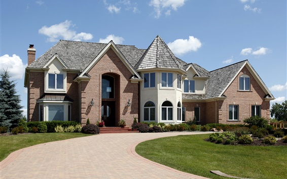 Wallpaper House, mansion, lawn