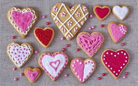 Wallpaper Love hearts cookies, Valentines
