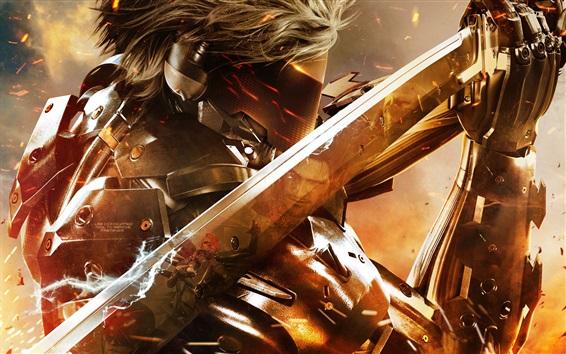 Wallpaper Metal Gear Rising: Revengeance, mask, sword