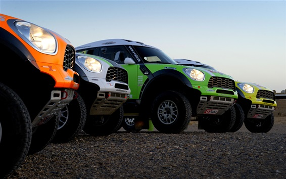Wallpaper Mini Cooper cars, Dakar Rally