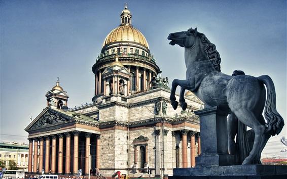 Wallpaper Russia, Saint Petersburg, cathedral, buildings