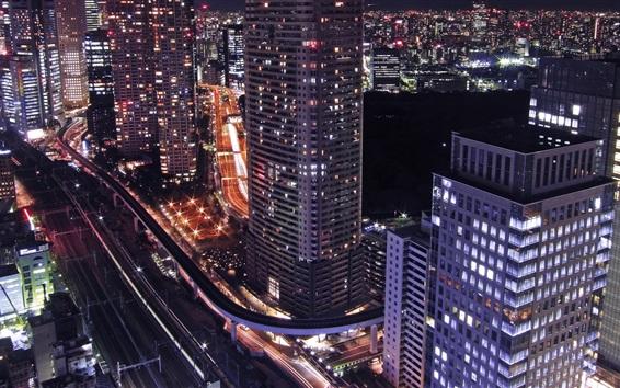 Wallpaper Seoul at night, South Korea, skyscrapers, lights
