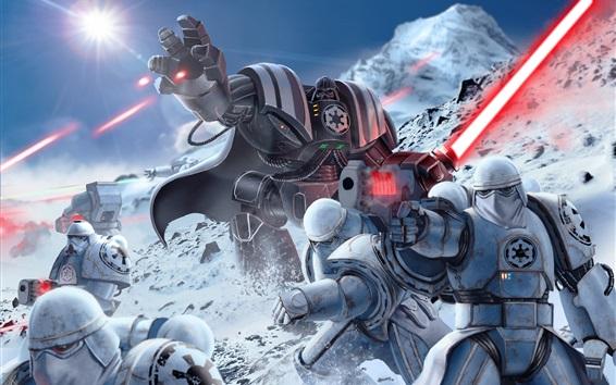 Обои Звездные войны, доспехи, световой меч, искусство картина