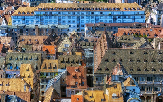 Wallpaper Strasbourg, France, houses, roof