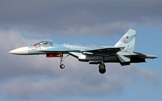 Wallpaper Su-27 multipurpose fighter, flight
