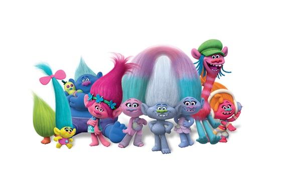 Papéis de Parede Trolls, filme de desenho animado 2016