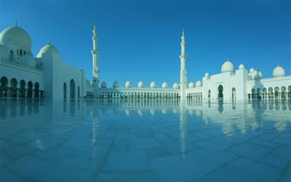 壁紙 アラブ首長国連邦、アブダビ、シェイクザイードグランドモスク