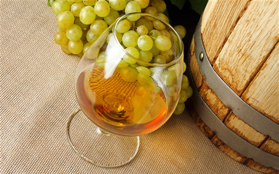Wallpaper Alcohol drinks, wine, grapes, glass cup