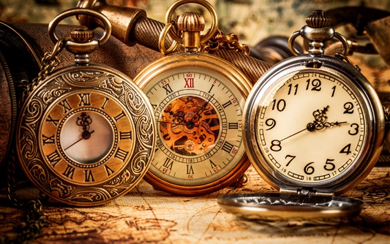 Wallpaper Antique pocket watch