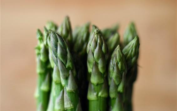 Wallpaper Asparagus close-up, vegetables