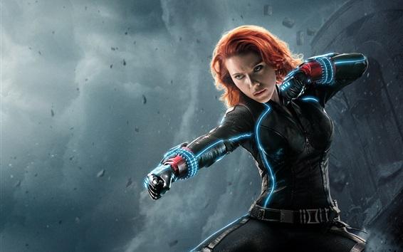 Wallpaper Avengers 2, black widow, Natasha, Scarlett Johansson