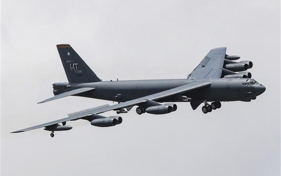 Wallpaper Boeing B-52H strategic heavy bomber flight