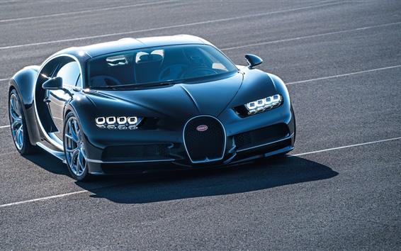 Fondos de pantalla Bugatti Chiron 2016 azul supercar