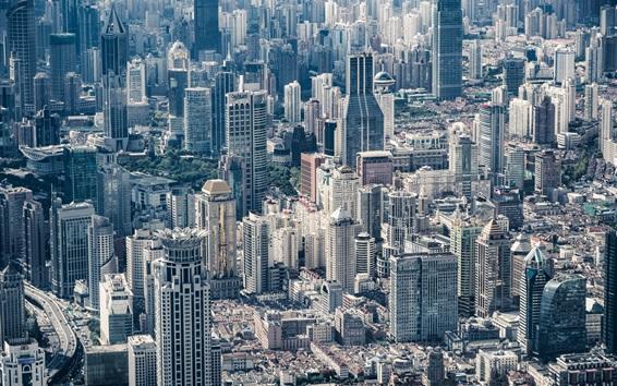 Обои Китай, город, Шанхай, небоскребы, здания