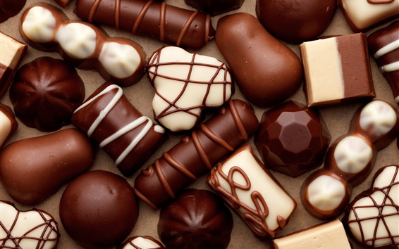 Papéis de Parede Doces de chocolate, doces, comida