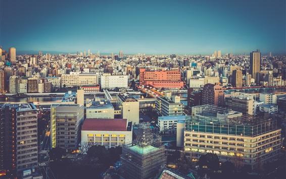 Papéis de Parede Cidade, edifícios, casas, crepúsculo