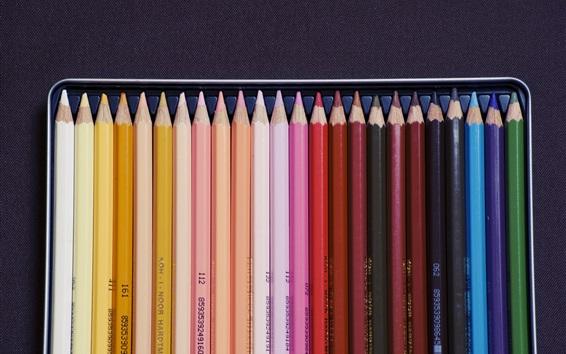 Fond d'écran Crayons colorés, outil de dessin
