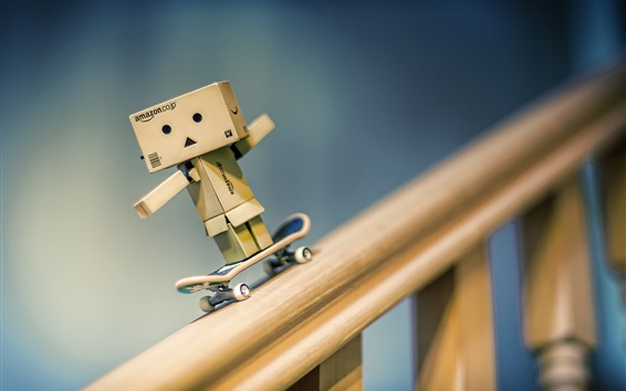 Danbo play skateboard Wallpaper Preview