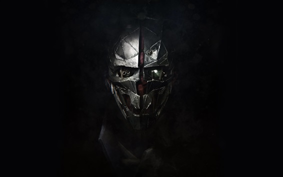Wallpaper Dishonored 2, mask, black background