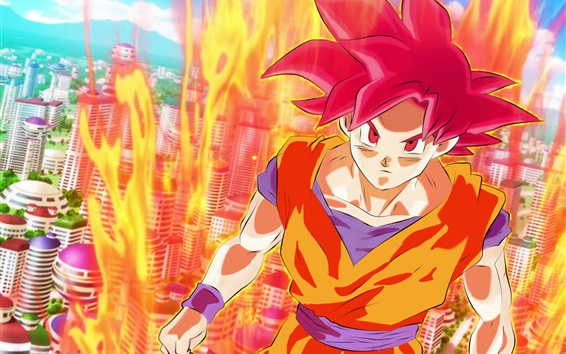 Wallpaper Dragon Ball Z, super saiyan, Monkey