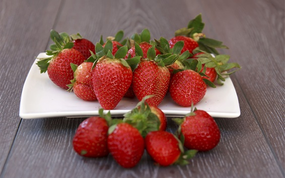 Wallpaper Fresh strawberry, ripe fruit