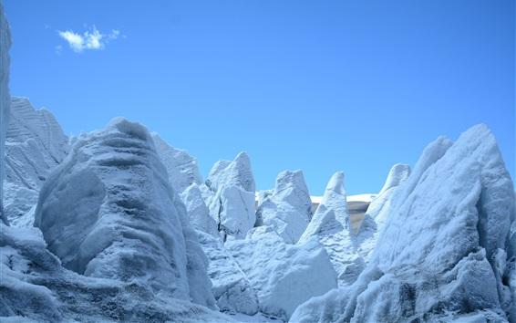 Wallpaper Glacier, snow mountain, cold