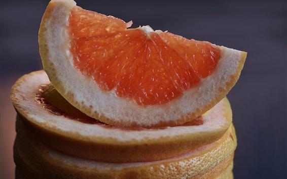 Wallpaper Grapefruit slice, citrus, fruit close-up