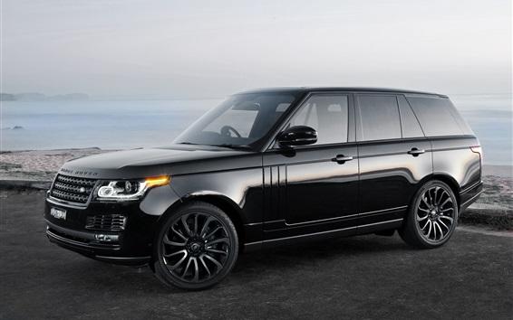 Wallpaper Land Rover Range Rover black car side view