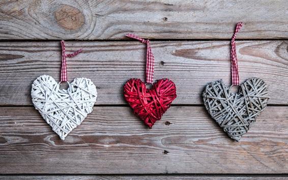 Fond d'écran Amour coeurs, art, romantique