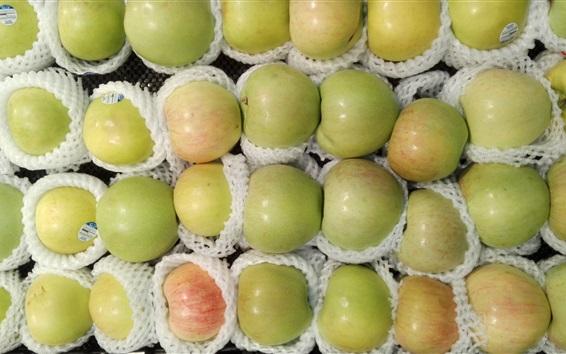 Wallpaper Many green apples