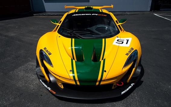Wallpaper McLaren P1 GTR supercar front view
