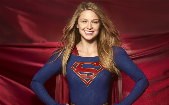 Wallpaper Melissa Benoist, Supergirl TV series, DC Comics