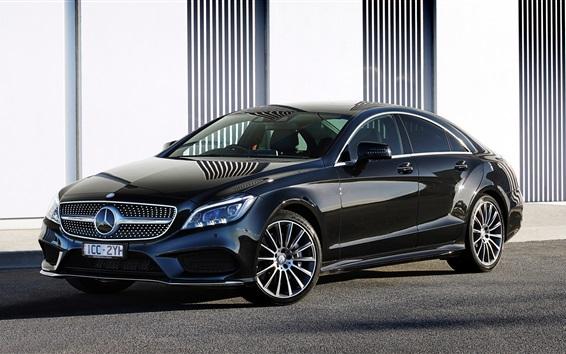 Fonds d'écran Voiture Mercedes-Benz AMG CLS 500 noir HD, image