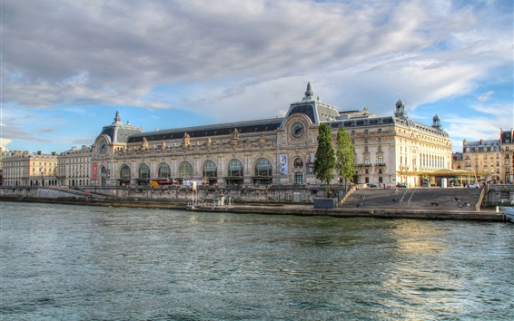 Wallpaper Paris, France, river, buildings