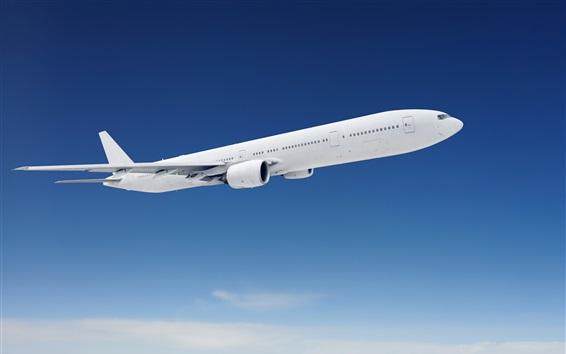 Обои Пассажирский самолет, полет, голубое небо