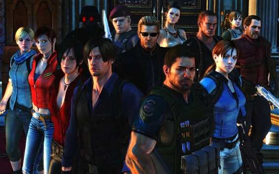 Wallpaper Resident Evil 6, game characters