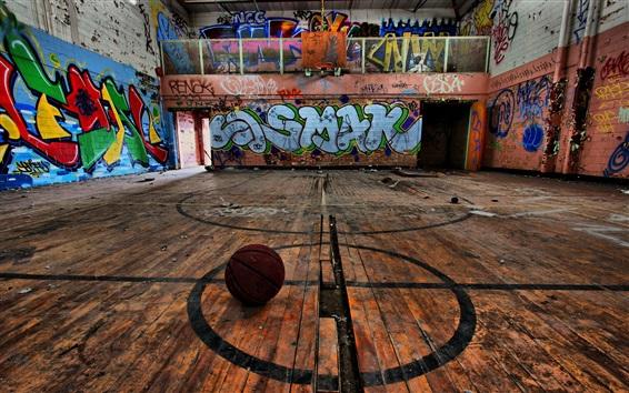 Wallpaper Sport, basketball, graffiti