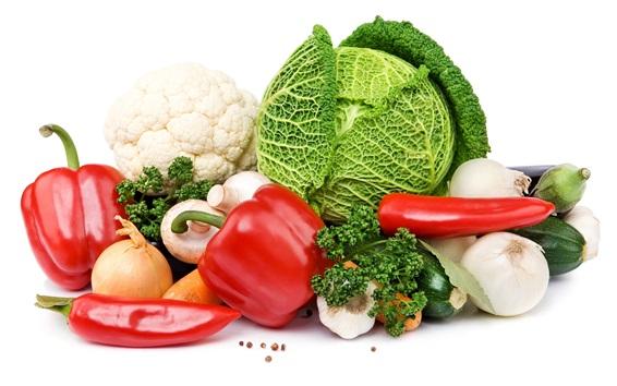 Wallpaper Vegetables, cabbage, onion, pepper, garlic, cauliflower