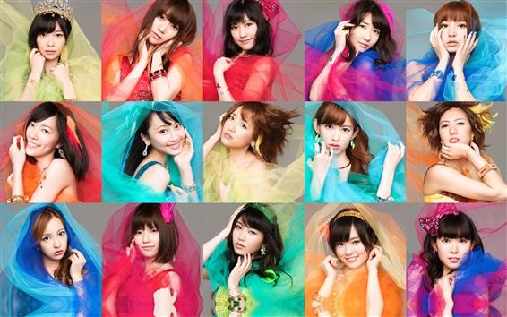 Обои AKB48, японские девушки музыки 02
