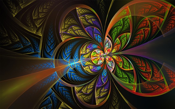 Wallpaper Abstract picture, colorful, like a butterfly