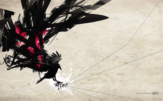 Wallpaper Art picture, silhouette, bird